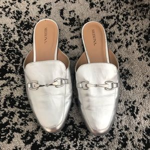Silver Slip On Mules From Target